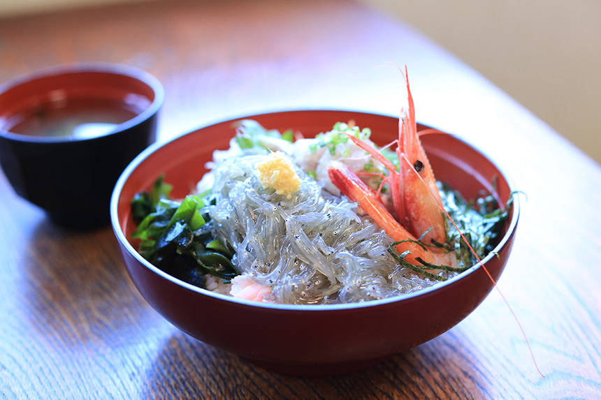 Shirasu-don (rice topped with small sardines)'s photo
