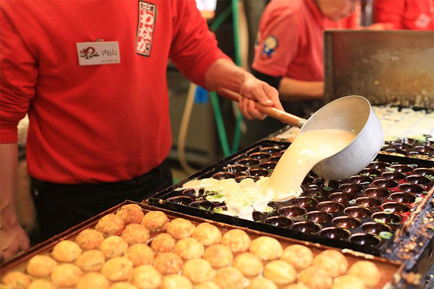 Takoyaki truyền thống tại Osaka